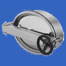Люк овальный 305x430 AISI 304 (L) / 1.4301 (7) / 08X18H10 с прокладкой SILICON