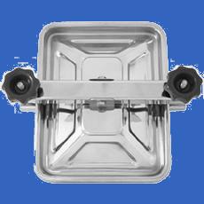 Прямоугольный люк 310х245 мм AISI 304 (L) / 1.4301 (7) / 08X18H10 с прокладкой EPDM