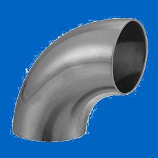 Отвод нержавеющий 114,3х2,0 EN 10253-3 AISI 316L / 1.4404 90 гр. полированый
